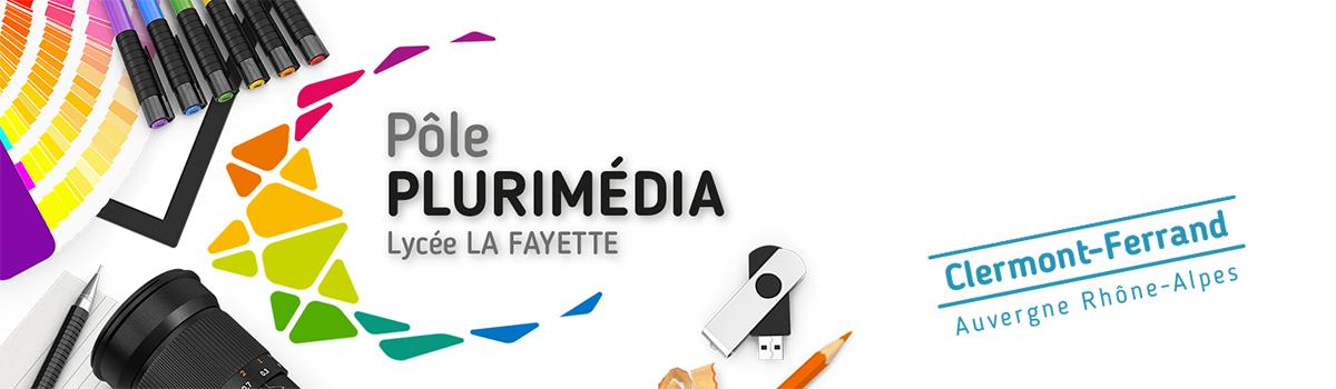 têtière du site du pôle plurimédia du lycée La Fayette de Clermont-Ferrand